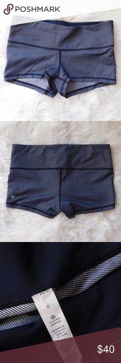 Lululemon Navy Boogie Shorts 8 Preowned! No signs of wear! Inkwell denim color! Rare & discontinued! Great condition! lululemon athletica Shorts