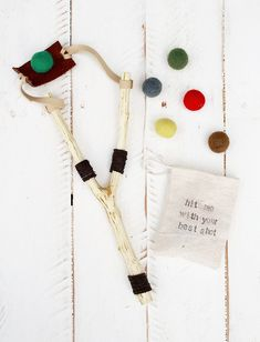 Every Christmas, I like to include at least one handmade (by us) gift for the boys. This year's gift are these fun slingshots! And yes, Levi is in these photos, playing with his gift before Christm... #Handmadetoys