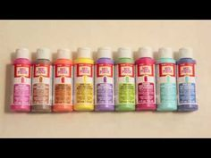 Learn How To Use Mod Podge Sheer Colors - YouTube