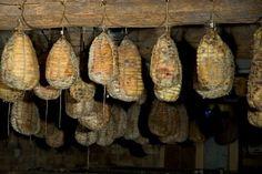 Il culatello di Zibello (Emilia Romagna) -    Il #culatello è uno dei #salumi più nobili della norcineria italiana: per la tecnica di lavorazione, lunga e delicatissima, perché viene prodotto con la parte più pregiata del #suino, la noce della coscia, per la sua rarità. #Food #SlowFood #Presidi #EmiliaRomagna
