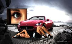 Hermosa, mujer, personas, coche, cool, nuevo, chica, modelos femeninos, mejor, agradable wallpaper