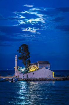 Vlaherna Monastery Pontikonisi Corfu Greece Beautiful Islands Beautiful Places Santorini