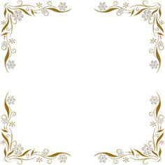 Golden Floral Corners Frame 2 by Paw-Prints-Designs on deviantART