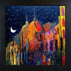 Tori Home Kopania - Night Framed, High Quality Print on Canvas