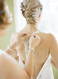 Hermoso peinado y tocado de novia #boda #novia #peinado #bride