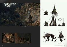 Bloodborne Concept Art - Hunting Dog & Hemwick Charnel Lane Concept Art