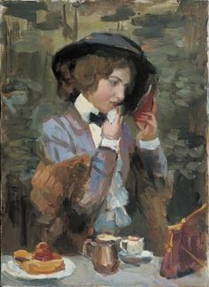 'Isaac' Lazarus  Israels | 1865 - 1934 - De 'finishing touch' tijdens afternoon tea