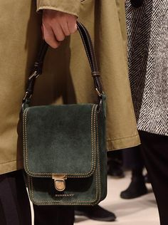 The Satchel, the Burberry runway bag for men. Crafted from leather and suede and finished with contrast stitching and vintage-inspired hardware