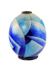 Geometric Vase by Camille Fauré - Ophir Gallery