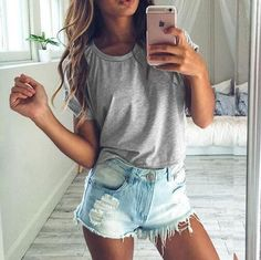 Fashion Casual Strappy Round Neck T-Shirt