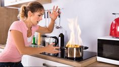 July is Fire Safety Month. Do you know the number one cause of fires? Check out this video to find out. Kitchen Safety Tips, Mold Cleanup, Fire Prevention, Kitchen Stove, Fire Safety, House Cleaning Tips, Fire Extinguisher, Grease, New Recipes