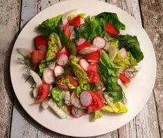 Salat med tomat og fennikel