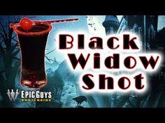 How To Make A Black Widow Shot | Halloween Cocktail Recipe | Epic Guys Bartending - YouTube