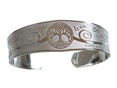 Large Satin Finish Tree of Life Cuff Irish Bangle from irishjewel.com Bangle Bracelets, Bangles, Irish Jewelry, Tree Of Life, Satin Finish, Celtic, It Is Finished, Jewels, Detail