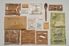 MILITARY FIELD RATIONS FOR SOLDIERS - USA