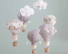 Hot Air Balloon Baby Mobile Travel Theme by sunshineandvodka