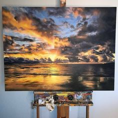 Best 12 Sunrise on Marsh in Summer by Junko Ono Rothwell – SkillOfKing. Landscape Sketch, Landscape Art, Landscape Paintings, Art Sketches, Art Drawings, Mini Canvas Art, Watercolor Paintings, Art Paintings, Ocean Paintings