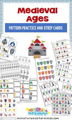 Medieval Pattern Practice For Preschool and Kindergarten