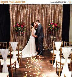 Sequin backdrops, Copper Sequin Wedding backdrops, Photography prop, Ceremony…