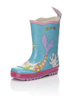 38% OFF Kidorable Mermaid Rain Boot (Toddler/Little Kid) (Aqua)