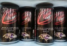 Baltimore Ravens Coca Cola Can