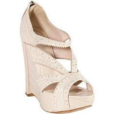 Dior 'Bonnie' Croc Stamped Wedges - Size 7 / 37