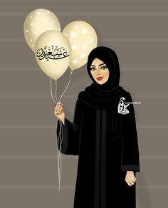 Girly M, Cute Muslim Couples, Muslim Girls, Cute Girl Drawing, Woman Drawing, Ramadan, Tmblr Girl, Sarra Art, Hijab Drawing