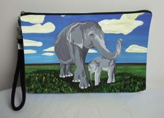 Elephants Pouch with detachable strap  On Sale by SalvadorKitti, $29.95