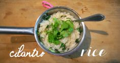 cilantro rice pilaf - just rice pilaf with the addition of lots of fresh cilantro, simple but delicious