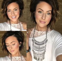 Short curly brunette bob http://amzn.to/2t7CRCS