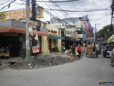 Fields Ave Angeles City Philippines being torn up in March 2012. In front of La Bamba Bar #fieldsave #angelescity #balibago