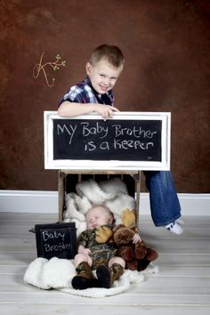 Newborn baby and his big brother