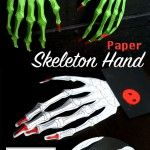 Scary hands from paper – A Halloween Decoration