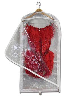 "Gusseted Garment Bag | 37"" x 18"" x 3"" | Single: $13.50 | 3-Pack: $36 | #DDAccessories #GarmentBags"