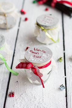 Homemade Holiday Gifts: Vanilla Bean Salt + Vanilla Bean Sugar | halfbakedharvest.com