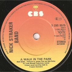 """7"""" 45RPM A Walk In The Park/Something In The Music by Nick Straker Band from CBS"""