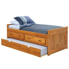 Twin Captain Bed With Storage And Trundle Unit