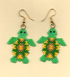 American Indian Beaded Animal Earrings | NativeWorksJewelry.com