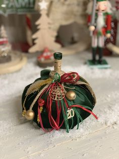 Christmas Pumpkins, Christmas Ideas, Christmas Decorations, Christmas Ornaments, Holiday Decor, Velvet Pumpkins, Fabric Pumpkins, Halloween, Charms
