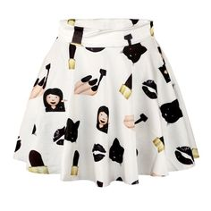 Women Summer 3D Printed Short Mini High Waist Skirt Flared Pleated Skirts