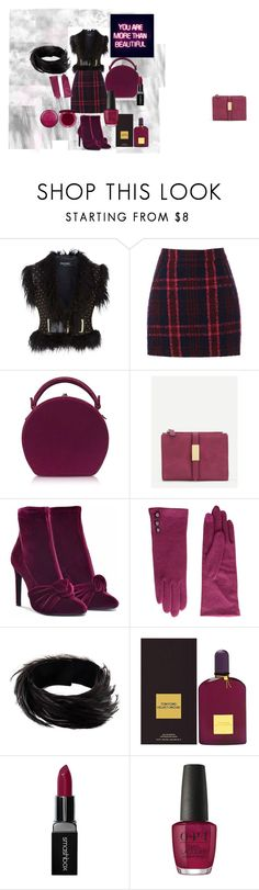 """red and black"" by tanjaa66 ❤ liked on Polyvore featuring Balmain, Oasis, Bertoni, Giuseppe Zanotti, Lauren Ralph Lauren, Dries Van Noten, Tom Ford, Smashbox, OPI and Stila"