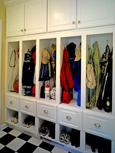 An organized mud room for kids of all ages.