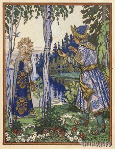 Иллюстрация к сказке из книги «Сказки русской бабушки». 1933 г-И.Билибин