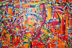 Angry Pumpkins  Olie på lærred (100x150) 2014 af Svend Christensen