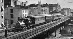 New York Elevated Railroad 6th Avenue line, 1886.