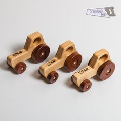 Wooden Toy Tractor Small Vehicle
