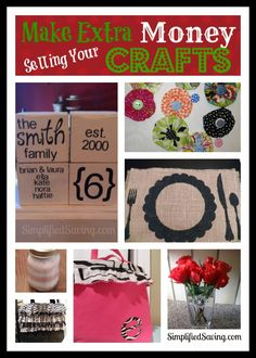 Make Extra Money for Christmas by Selling Crafts | SimplifiedSaving.com