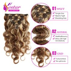 Body Wave Clip In Human Hair Extensions 100g Full Head Brazilian Virgin Human Hair Clips Ins Extension African American Clips In