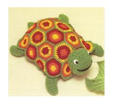 Patron pdf de tejido en crochet juguete tortuga por Liloumariposa