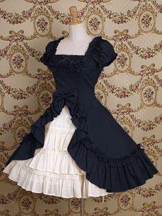 Vermeil Short Sleeve Bow Cotton Classic Lolita Dress